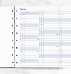 Filofax Notebook A5 Year Planner Refill