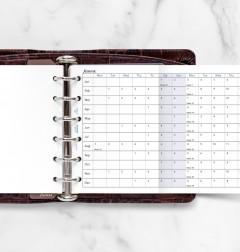 Horizontal Year Planner Pocket