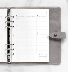Minimal Week to View Vertical Diary - A5