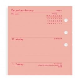 Week On Two Pages Diary Personal Pink
