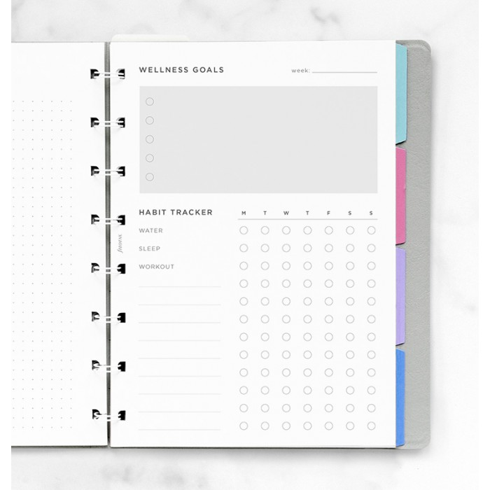 Wellness Tracker Notebook Refill - A5