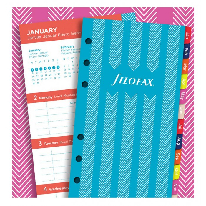 Stripes Illustrated Diary Refill Pack Personal