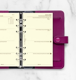 Week On Two Pages Diary Personal Cotton Cream