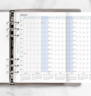 Horizontal Year Planner A5